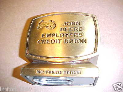 John Deere Employees Credit Union Coin Bank 4th Edition 1981 WITH Froelich