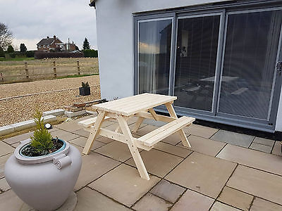 New Hand Made wooden 4ft Pub Garden table Picnic Bench Seat - Bargain!