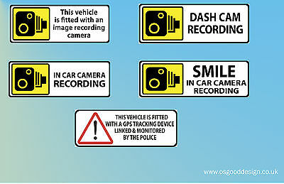 CCTV Tracker Camera Immobilised Alarm Sticker taxi smile Sign Car Van Lorry