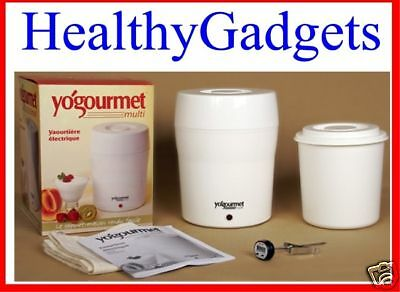 Yogourmet Electric Yogurt Maker Kit Brand New 2L with Thermometer, Cheese bag