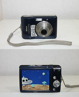 Nikon COOLPIX L18 8.0 MP Digital Camera 3x Optical Zoom - Blue w/Strap