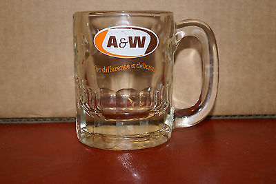 1970's A&W Canada Root Beer Vintage Glass Mug with Rare Catchphrase Logo