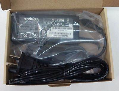 Genuine OEM 65W Toshiba AC Adapter Charger Laptop Power Supply Cord 19V 3.42A