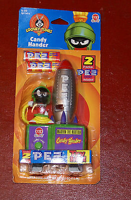 Cap Candy Loony Toons Candy Hander Marvin the Martian 1998 PEZ NEW UNOPENED