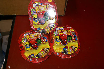 Mighty Beanz Beans 5-Pack 2003 Series 1 Marvel Superheroes LOT OF 3 NEW