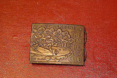 1948 Active Member of the Mile High Club 1st Class Private Edition Belt Buckle