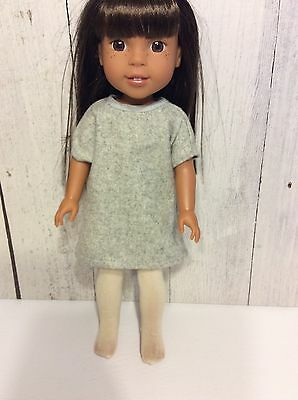 Cute Doll Dress Only - Fits American Girl Wellie Wishers Doll