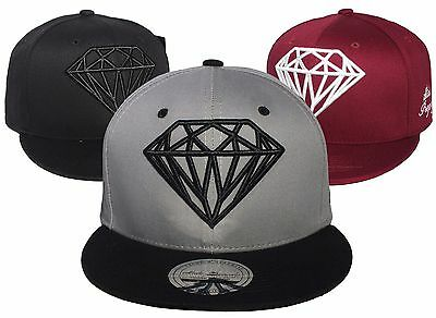 New Hot DIAMOND Snapback Caps Hip Hop Flat Peak Adjustable Mens Baseball Hats...