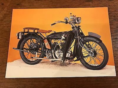 Vintage 1924 800cc Raleigh V Twin National Motorcycle Museum Postcard (C)