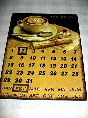 Perpetual Calendar Magnetic Markers Made of Sturdy Metal Cappaccino Design
