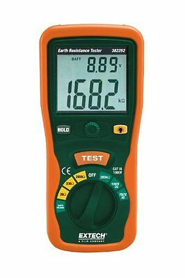 Extech 382252 Earth Ground Resistance Tester Kit Standard NEW