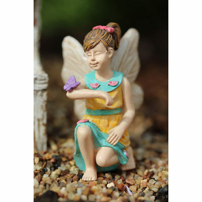 "2.25"" My Fairy Gardens Mini Figure Pick - Allison - Kneeling Miniature Figurine"