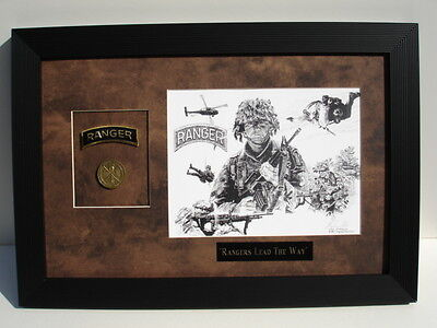 """rangers Lead The Way ""  Art, Tab, Coin, And Engraving"