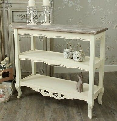 Country Console Table Large French Furniture Cream Shabby Chic Hallway Sideboard