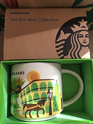 "Starbucks Coffee Mug NEW ORLEANS ""You Are Here Collection"" 2016 NWT & box"