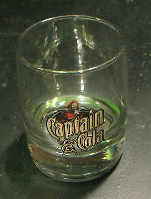 Captain Morgan Rum Captain & Cola Old Fashioned Bar Glass 12oz