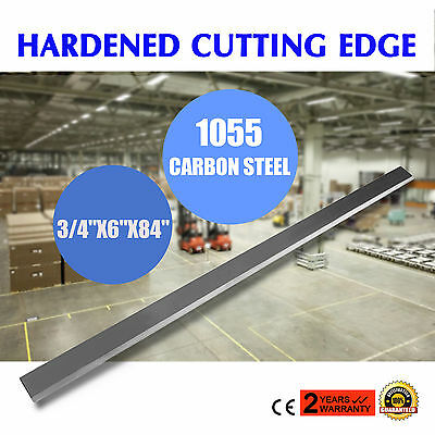 "84"" x 6"" x 3/4"" Beveled Cutter Bucket Cutting Edge Hardened Skid Steer HQ"