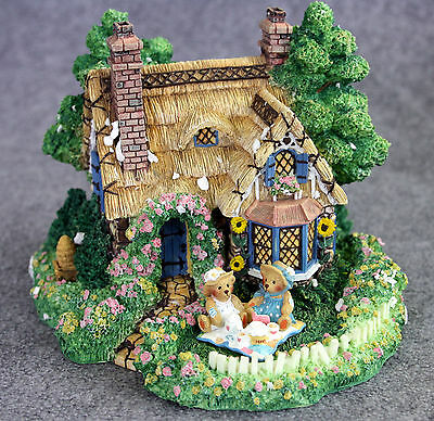 """""""a Picnic For Two"""" A Hamilton Collection - """"cherished Teddies Village"""" 1995"""