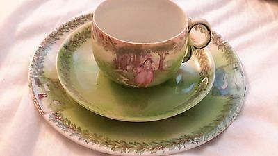 Antique Royal Bayreuth Bavaria Little Bo Peep cup, saucer and plate