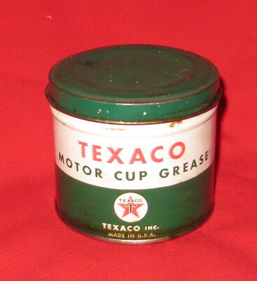 Vintage Texaco Motor Cup Grease Can