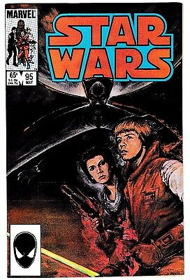 STAR WARS #95 (NM) Princess Leia & Luke Skywalker Cover! High Grade Marvel 1985