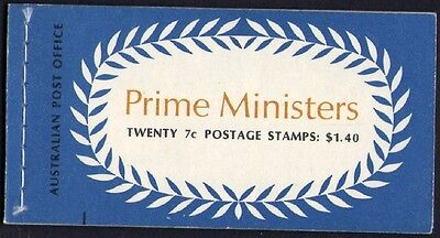 1972 Stamp Booklet $1.40 Prime Ministers N72/2 (Pink Page/priority M) Stamps Muh