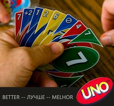 uno plastic transparent waterproof playing cards board game family fun poker