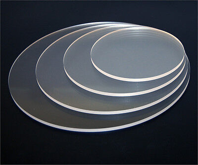 Acrylic Clear DISKS Perspex Circle Diameter 100mm to 1000mm Polished EDGES 3mm