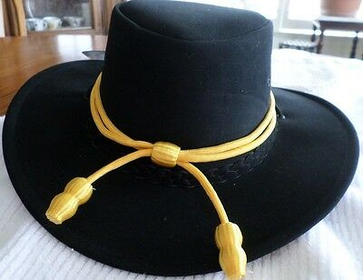 Western Cowboy Cavalry Hatband Gold Color Adjustable New Free Ship Usa