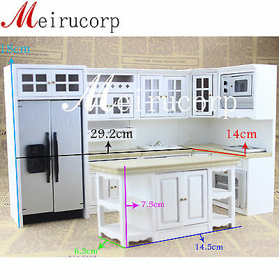 Miniature furniture1/12scale well made handcrafted kitchen set for dollhouse