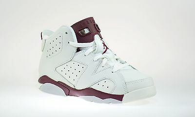 Nike Air Jordan 6 Retro BT Toddler Shoes Size 11C-  Off White/ New Maroon- NIB
