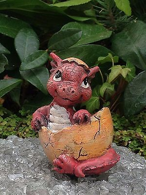 Miniature Dollhouse FAIRY GARDEN ~ Mini Baby Girl Pink Dragon Figurine ~ NEW