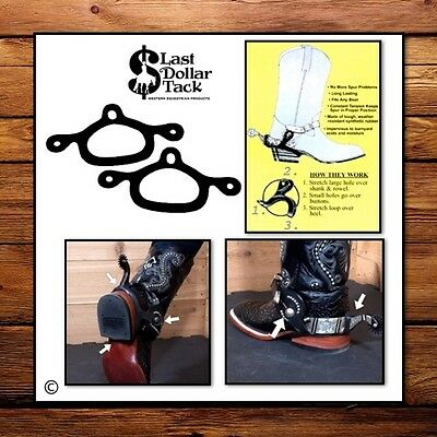Western Spur Rubber Tie-Downs