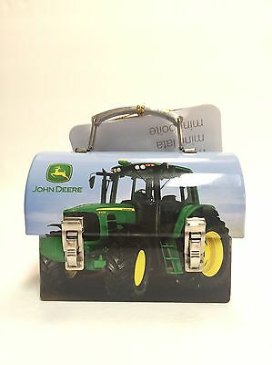 John Deere Tin Mini carry all lunch box tin collection