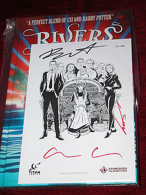 Rivers of London Body Work Graphic Novel H/B 158/1000 Print Signed x 3 Book x 2