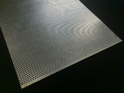 Stainless Steel (304) Perforated Sheet Metal 0.7 mm thick (Various sizes in mm)