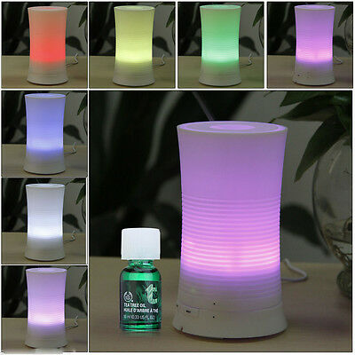 100ML Ultrasonic Home LED Aroma Humidifier Air Diffuser Purifier Atomizer US MAX