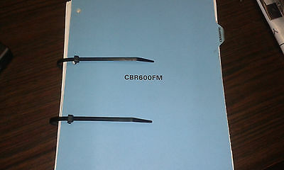 Honda Cbr600Fm Genuine Motorcycle Workshop Manual Loose Bound 1990-19911