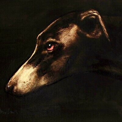 COMMISSION a DOG PORTRAIT : An oil painting of your pet canine by David Andrews