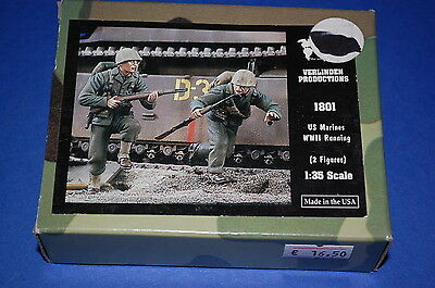Verlinden Productions 1801 - US Marines WWII Running  scala 1/35