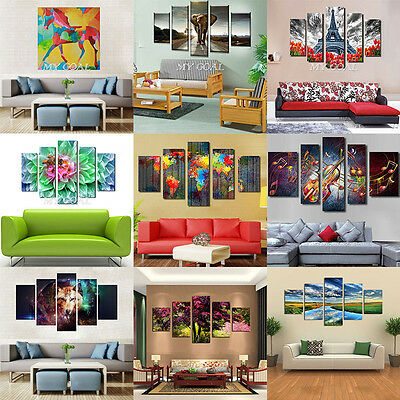 5 Panel Canvas Prints Modern Home Decor Wall Art Picture Oil Painting Unframed