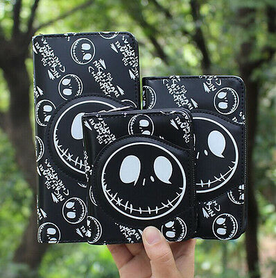 NEW Nightmare Before Christmas Jack Face White/Black Coin Pouch Bag Purse Wallet