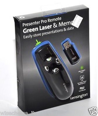 Kensington Presenter Pro Remote with Memory and Green Laser