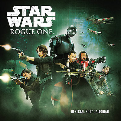 Star Wars Rogue One Official 2017 Square Wall Calendar- NEW (SKU 261)FREE UK P&P