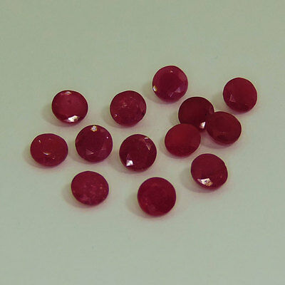 3mm to 8mm NATURAL RUBY ROUND CUT RED PINK LOOSE GEMSTONE LOT FREE SHIPPHING