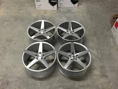 "20"" Staggered OEMS IFG8 Wheels - Silver / Machined - VW / Audi / Mercedes 5x112"