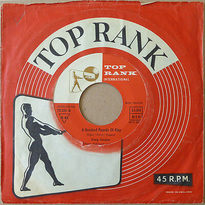 "7"" Craig Douglas - A Hundred Pounds Of Clay - Deutschland 1961 - VG+(+) to VG++"