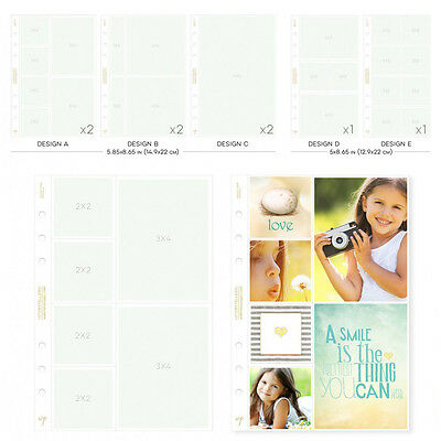 NEW Websters Pages A5 Planner Photo Sleeves Variety Pack
