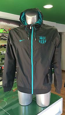 Giacca Vento Calcio Jacket Authentic Windrunner Nike Barcelona 2016/2017 Nero