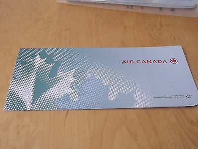 Air Canada Ticket Jacket/Folder - Brand New - Lie Flat Ad